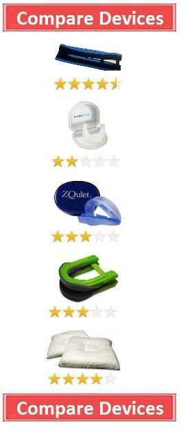 Snoring Device Comparison Chart