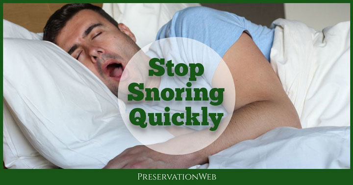 list of six ways to stop snoring